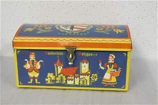 A Vintage German Tin Box