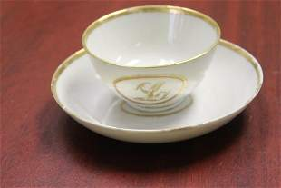 Lot of Two Chinese Export Plate and Small Bowl/Cup