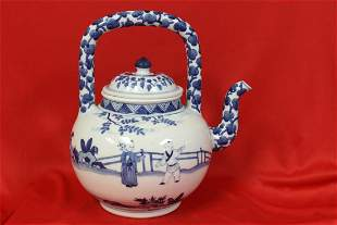 A Blue and White Chinese Teapot
