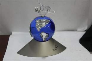 A Signed Swarovski Crystal Globe