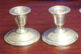 A Pair of International Sterling Candlesticks