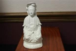 A Chinese Ceramic Blanc de China Kwan Yin