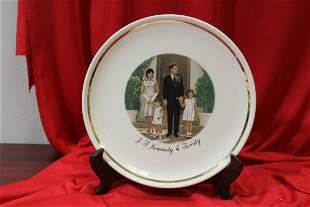 A John F. Kennedy and Family Plate