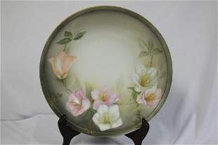 An RS Gold Rim Floral Bowl