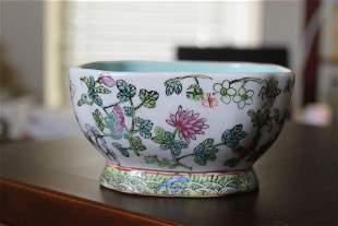 Antique / Vintage Chinese Square Bowl