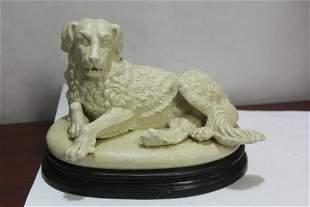 A Porcelain Dog Figurine