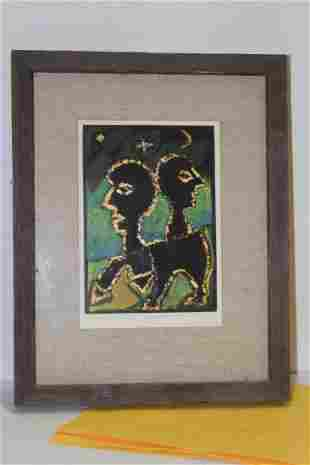 An Acrylic on Paper Painting by Romeike-Wisniewski