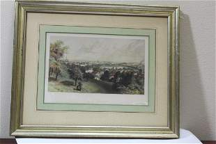 A Framed Engraving of the City of Providence