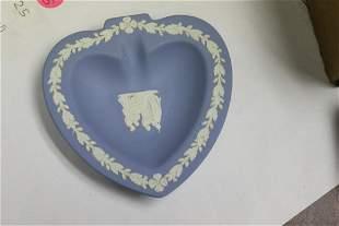 A Wedwood Jasperware Heart Shape Personal Ashtray