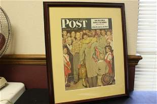 Framed Norman Rockwell Saturday Evening Post Cover -