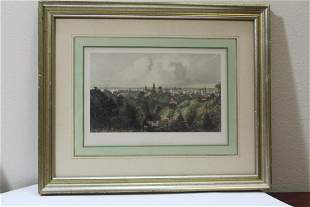 A Framed Engraving of the City of Milwaukee