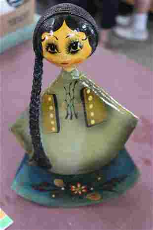 A Mexican Paper Mache Doll