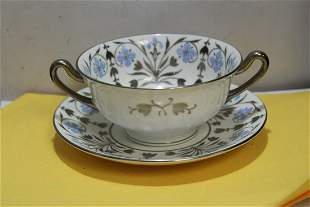 A Wedgwood Soup Bowl and Saucer/Underplate