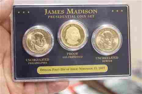A James Madison 3-Coin Set