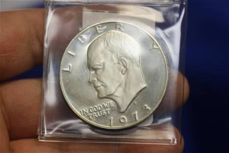 A 1973-S 40% Silver Ike Dollar
