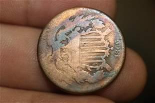 An 1866 2 Cent Piece