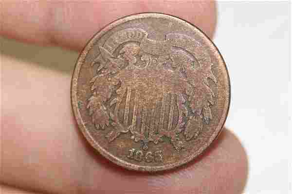An 1865 Two Cent Piece