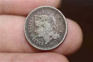 An 1867 Three Cent Piece