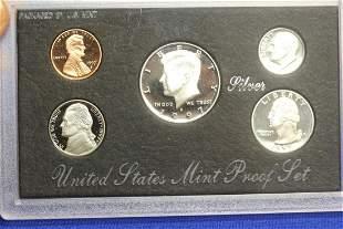 A 1997 US Mint Silver Proof Set