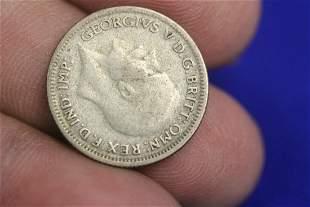 A 1929 Six Pence