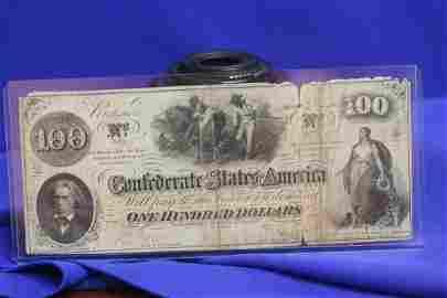 A $100 Confederate Note