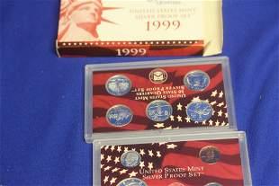 A 1999 US Mint Silver Proof Set