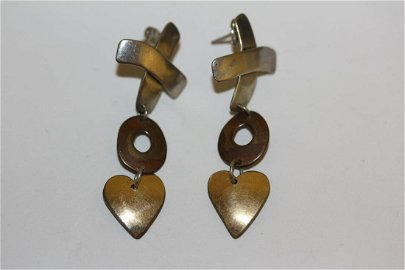 A Pair of Rob Livingston Navajo Sterling Earrings