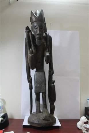 An Antique African Wooden Statue