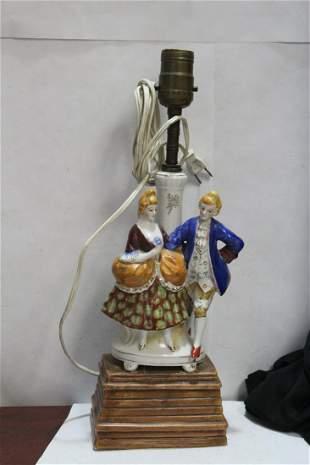 A Ceramic Figural Lamp