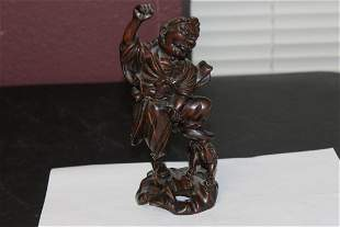 A Chinese Wooden Statue