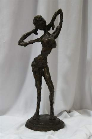 A Signed Marilyn Simon Solid Bronze Statue