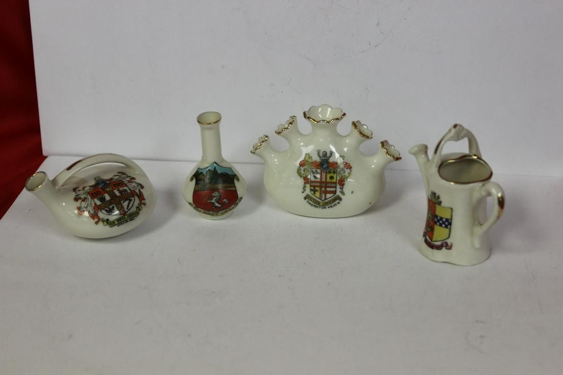Lot of 4 Miniature Armour Ceramic Articles