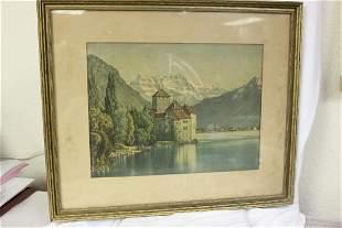 A Framed Old Print