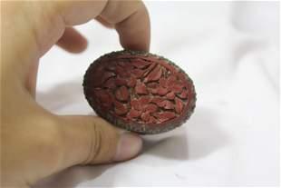 An Vintage Chinese Cinnabar Small Trinket Box