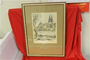 A Signed Drawing? Etching? Woodblock?