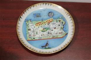 A Pennsylvania Souvenir Plate