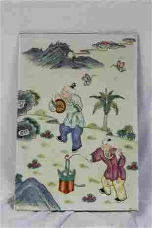 A Vintage Chinese Porcelain Plaque