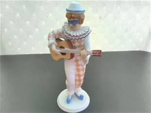 A Kaiser Polychrome Bisque Porcelain Harlequin