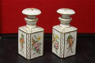 Set of 2 Porcelain Decanter