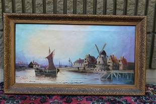An Oil on Canvas Painting - Signed
