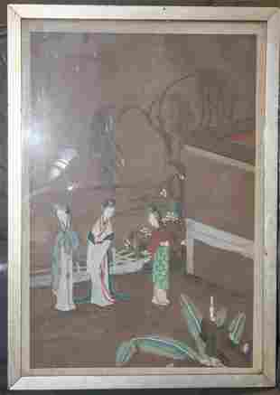 Antique Chinese Pastel Painting