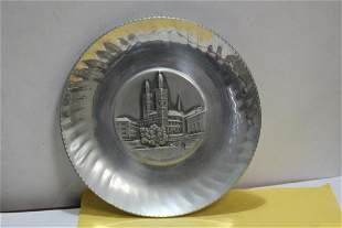 A Hand Hammered Souvenir Plate