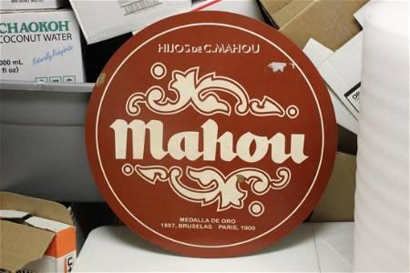 A Mahou Metal Sign
