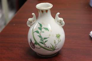 An Antique Chinese Two Handle Small Bottle