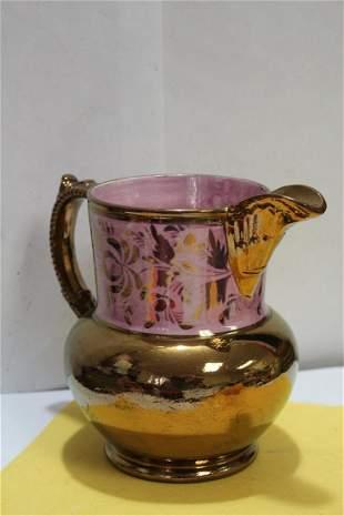 A Ceramic Lusterware Pitcher