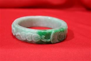 A Jadeite Bangle Bracelet