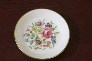 A Royal Worcester Floral Trinket Plate