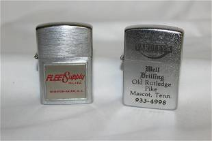Lot of 2 Advertising Lighters