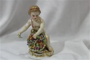 A Signed Meissen Figurine
