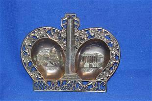A Washington DC Souvenir Metal Ashtray
